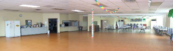 A panorama of the Hatten Hall / Lions Area